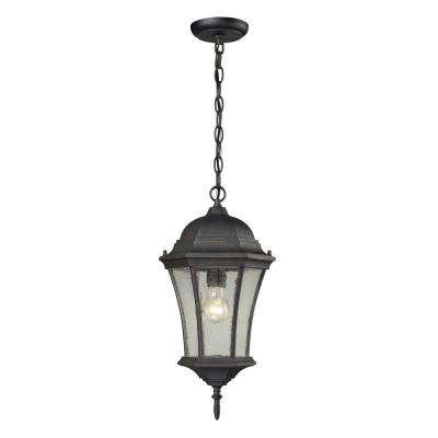 Wellington Park 1-Light Weathered Charcoal Outdoor Pendant