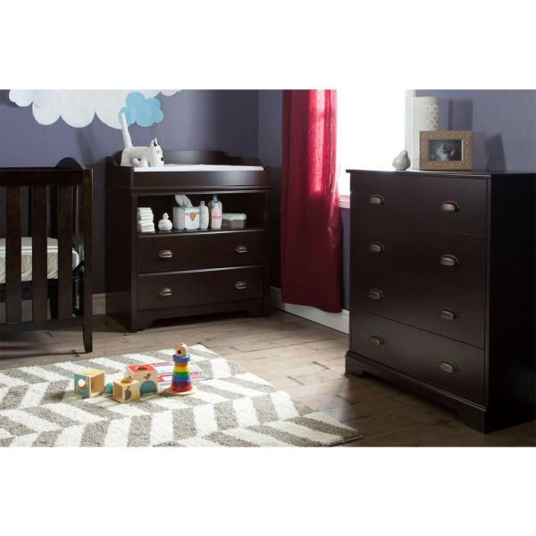 South Shore Fundy Tide 4-Drawer Espresso Chest 9024034