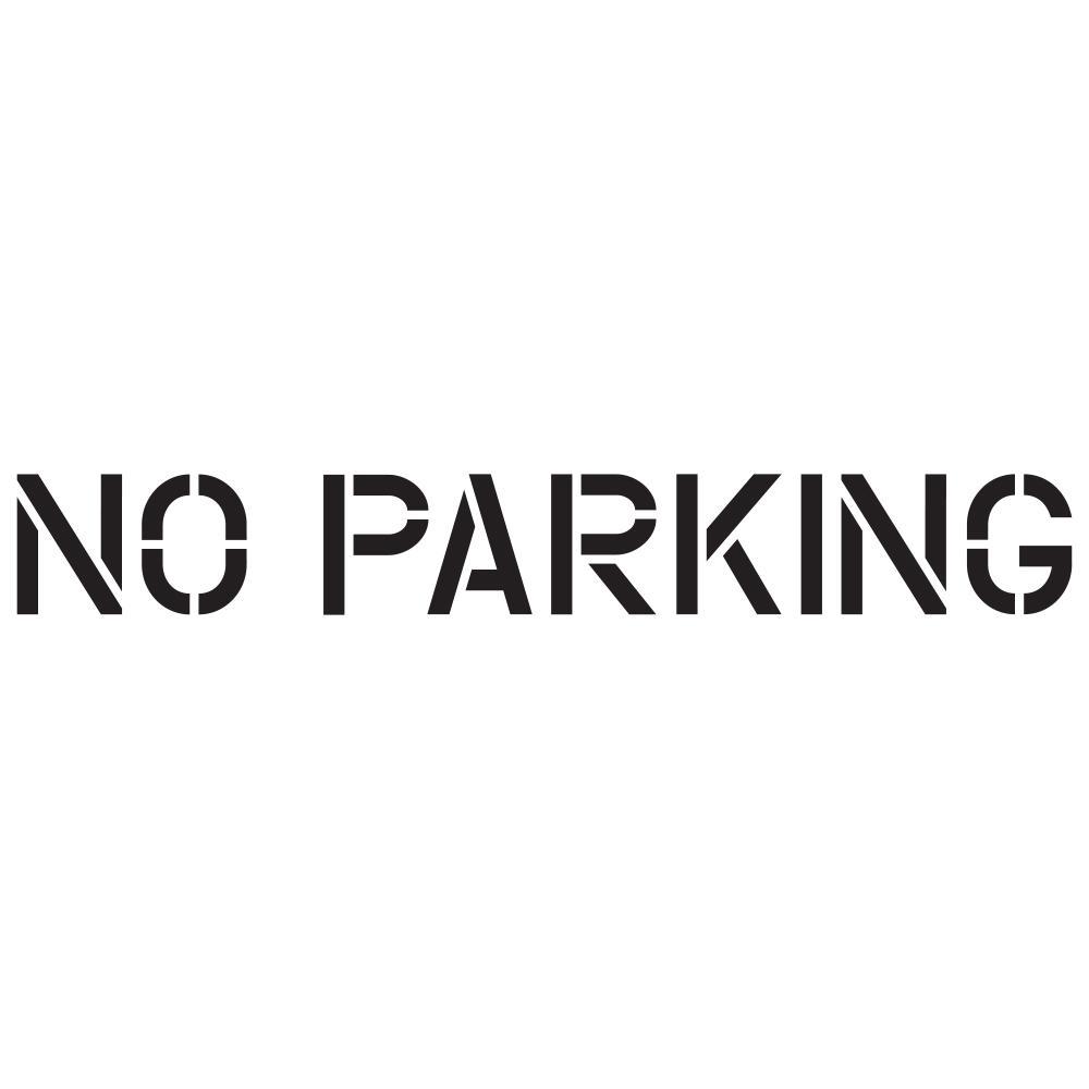 18 in. No Parking Stencil