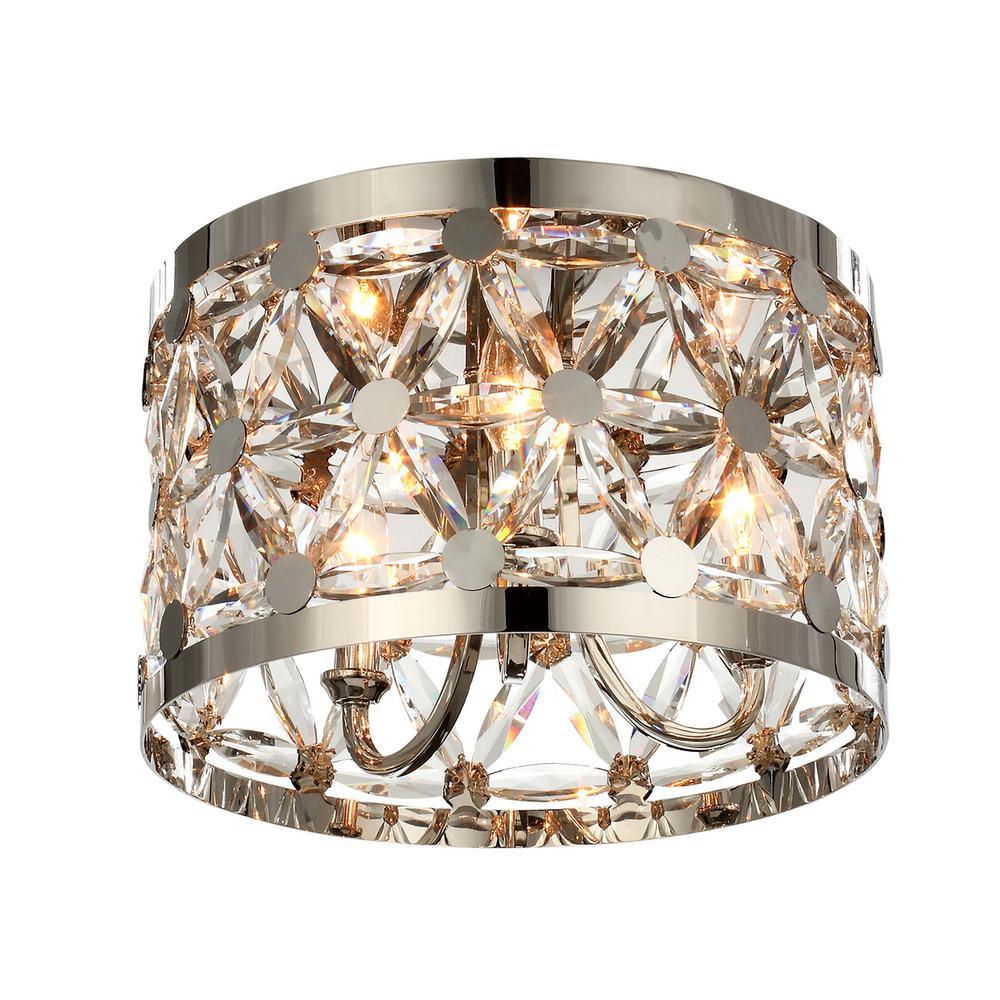 Maxim Lighting Cassiopeia Light Polished Nickel Flushmount 18401