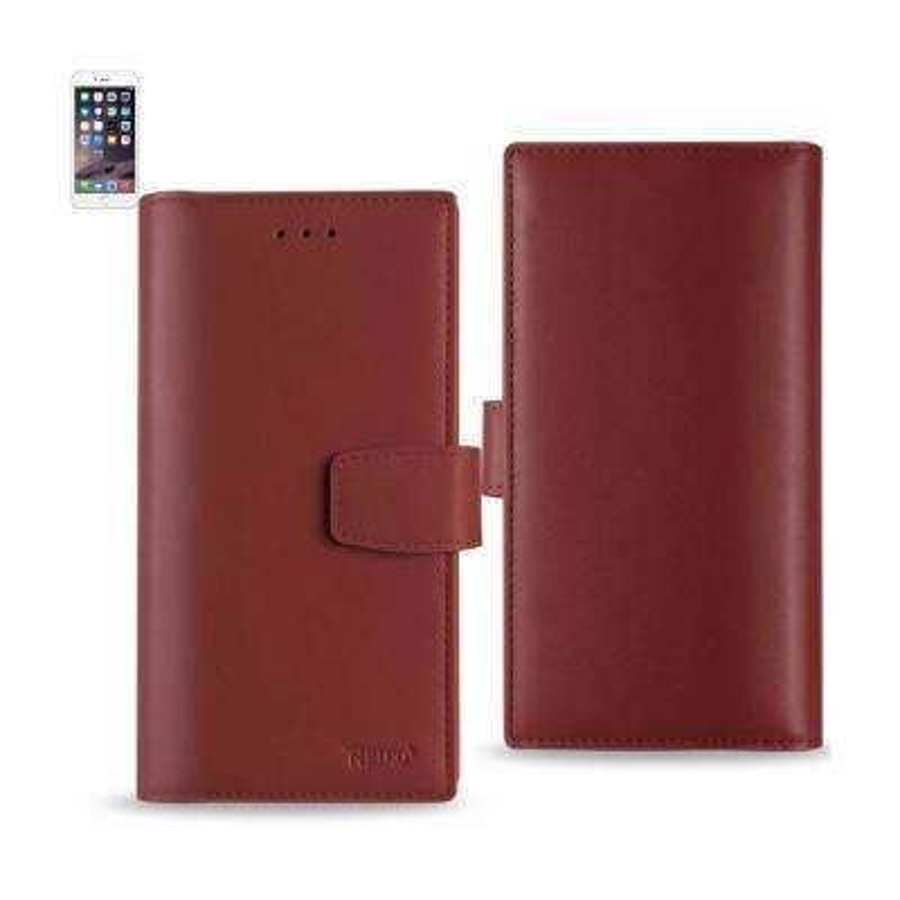 iPhone 6 Plus/6S Plus Genuine Leather Design Case in Burgundy