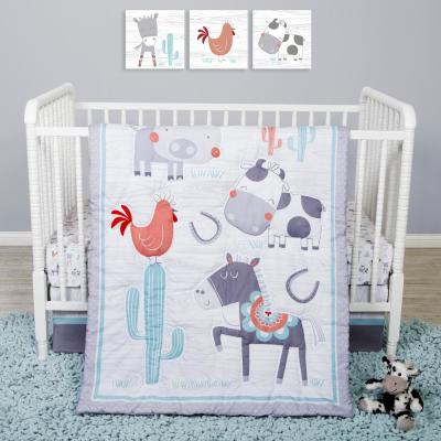 Farmstead Friends 4-Piece Crib Bedding Set