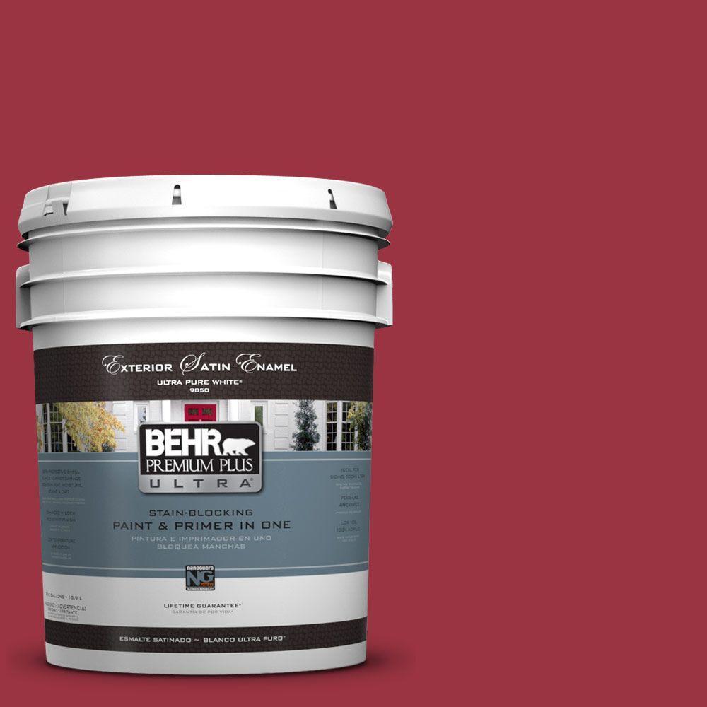 BEHR Premium Plus Ultra 5-gal. #UL100-5 High Drama Satin Enamel Exterior Paint
