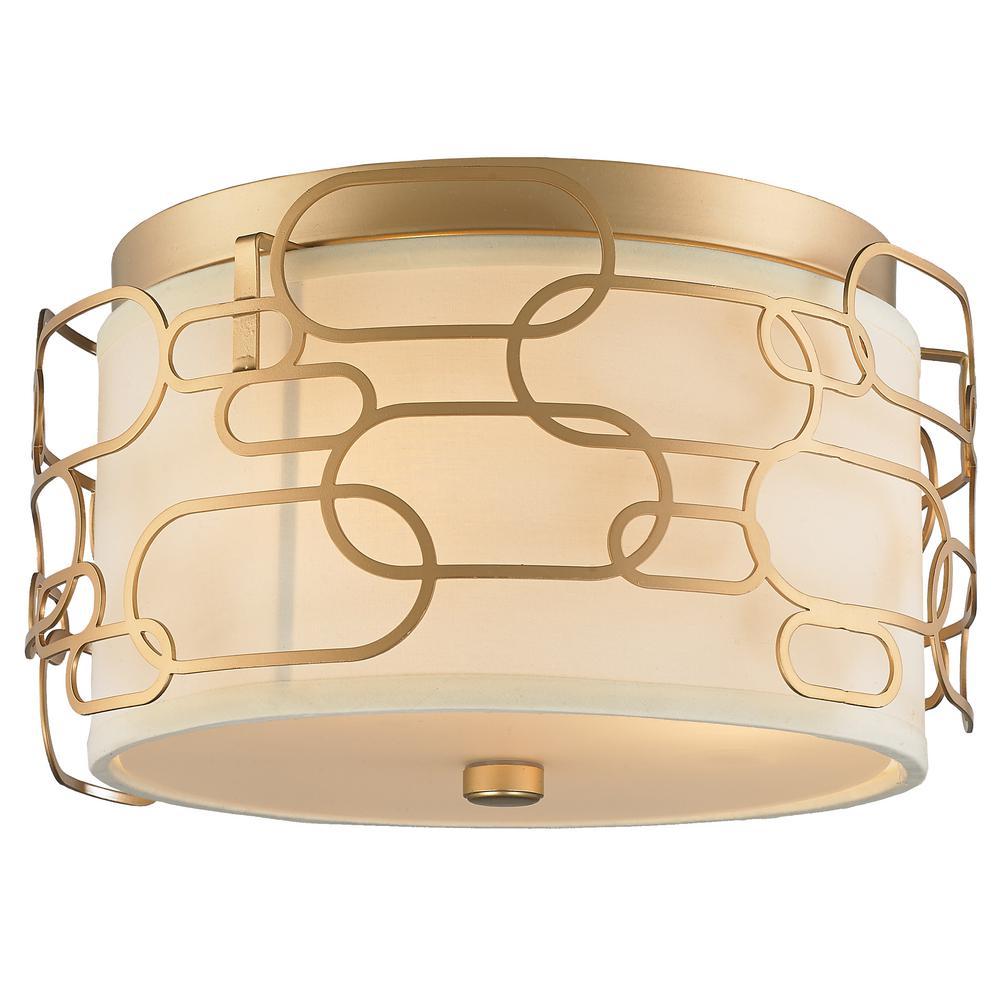 Montauk 3-Light Matte Gold Flushmount