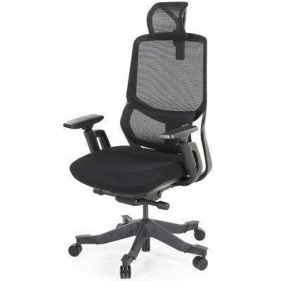 Ergonomic Black Office Mesh Task Chair with Adjustable Headrest