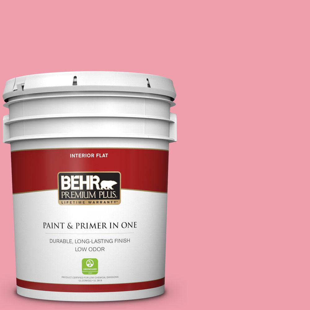 Behr Premium Plus 5 Gal 120b 5 Candy Coated Flat Low Odor Interior Paint And Primer In One 140005 The Home Depot