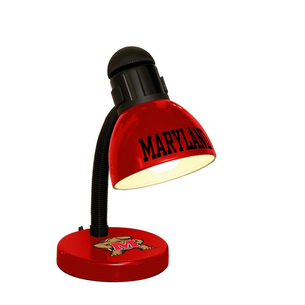 The Memory Company 14.7 in. NCAA Desk Lamp - Maryland Terrapins-DISCONTINUED