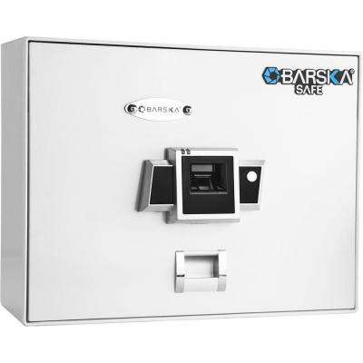 0.23 cu. ft. Top Opening Safe with Biometric Lock, White