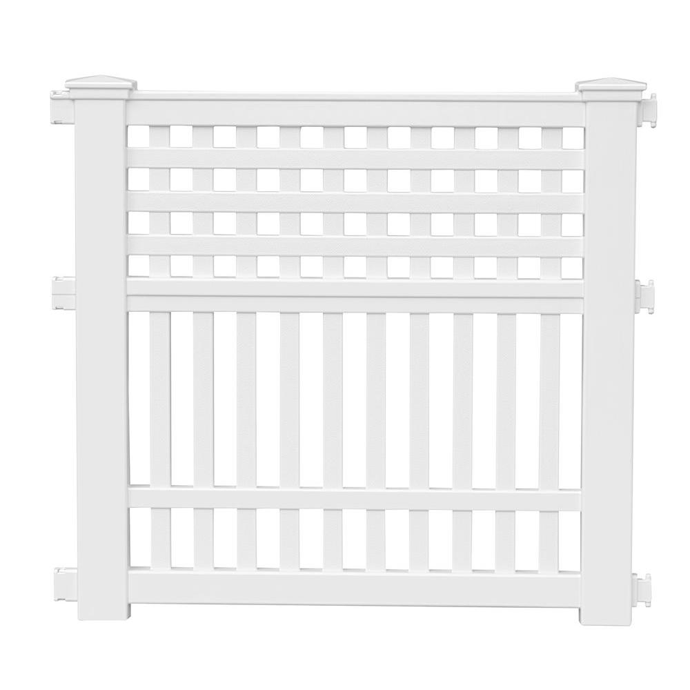 Suncast Grand View 3575 in Resin Garden Fence GVF3232 The Home Depot