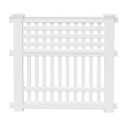 Grand View 35.75 in. Resin Garden Fence