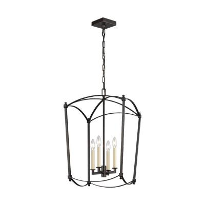 Thayer 4-Light Smith Steel Chandelier
