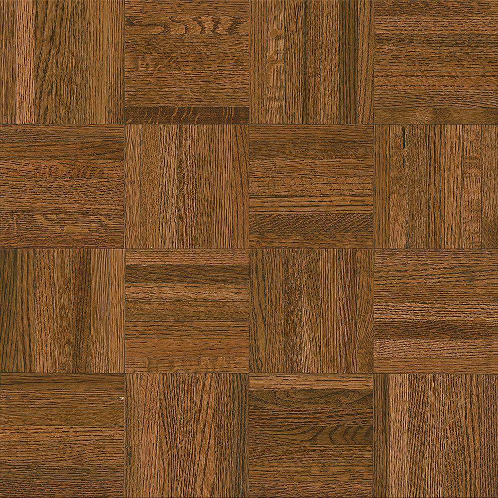 Bruce natural oak parquet gunstock 5 16 in thick x 12 in for Bruce hardwood flooring