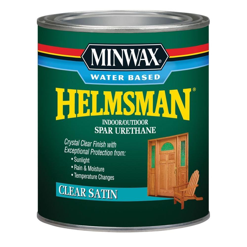 1 qt. Clear Satin Helmsman Indoor/Outdoor Spar Urethane (4-Pack)