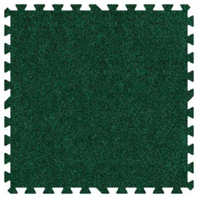 Emerald Green 24 in. x 24 in. Comfortable Carpet Mat (100 sq. ft. / Case)