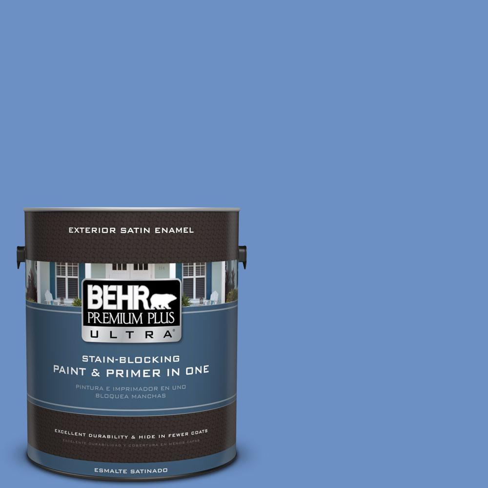 BEHR Premium Plus Ultra Home Decorators Collection 1-gal. #HDC-MD-02 Lapis Lazuli Satin Enamel Exterior Paint