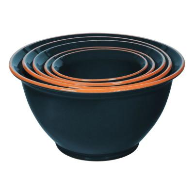 5-Piece Terracotta Navy Mixing Bowl Set