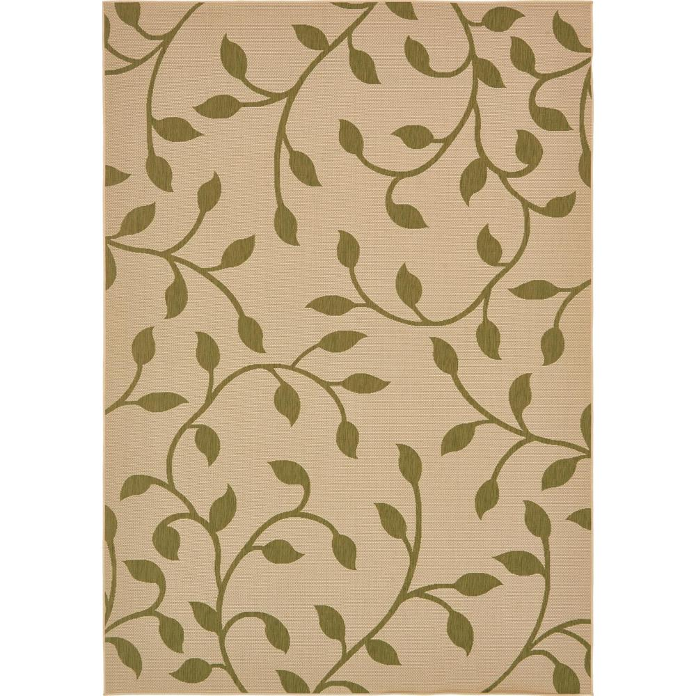 Outdoor Beige and Green 8 ft. x 11 ft. 4 in.