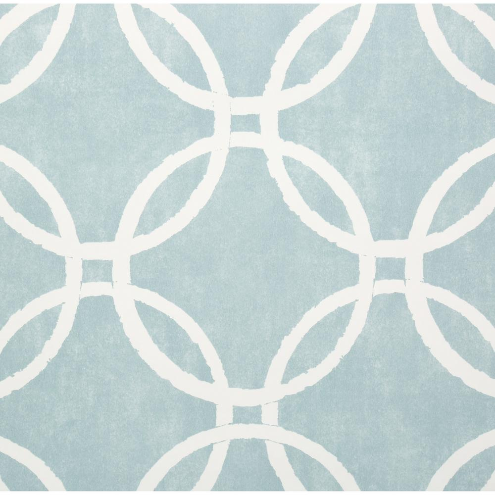 NuWallpaper 30.75 sq. ft. Blue Links Peel and Stick Wallpaper-NU1654 ...