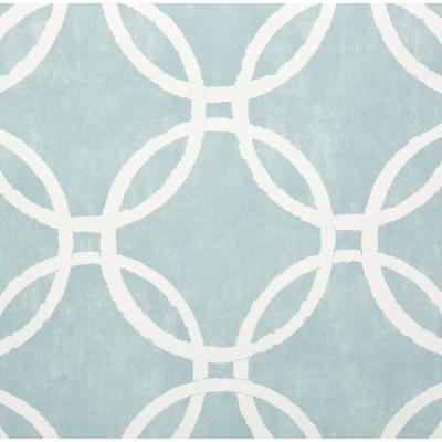 30.75 sq. ft. Blue Links Peel and Stick Wallpaper