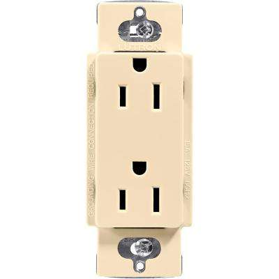 Claro 15 Amp Duplex Outlet, Ivory on gfci in series, electric in series, wiring an outlet, wiring a receptacle outlet, wiring gfi outlet installation, wiring a gfci outlet circuit, wiring a switched outlet, wiring 2 gang outlet box,