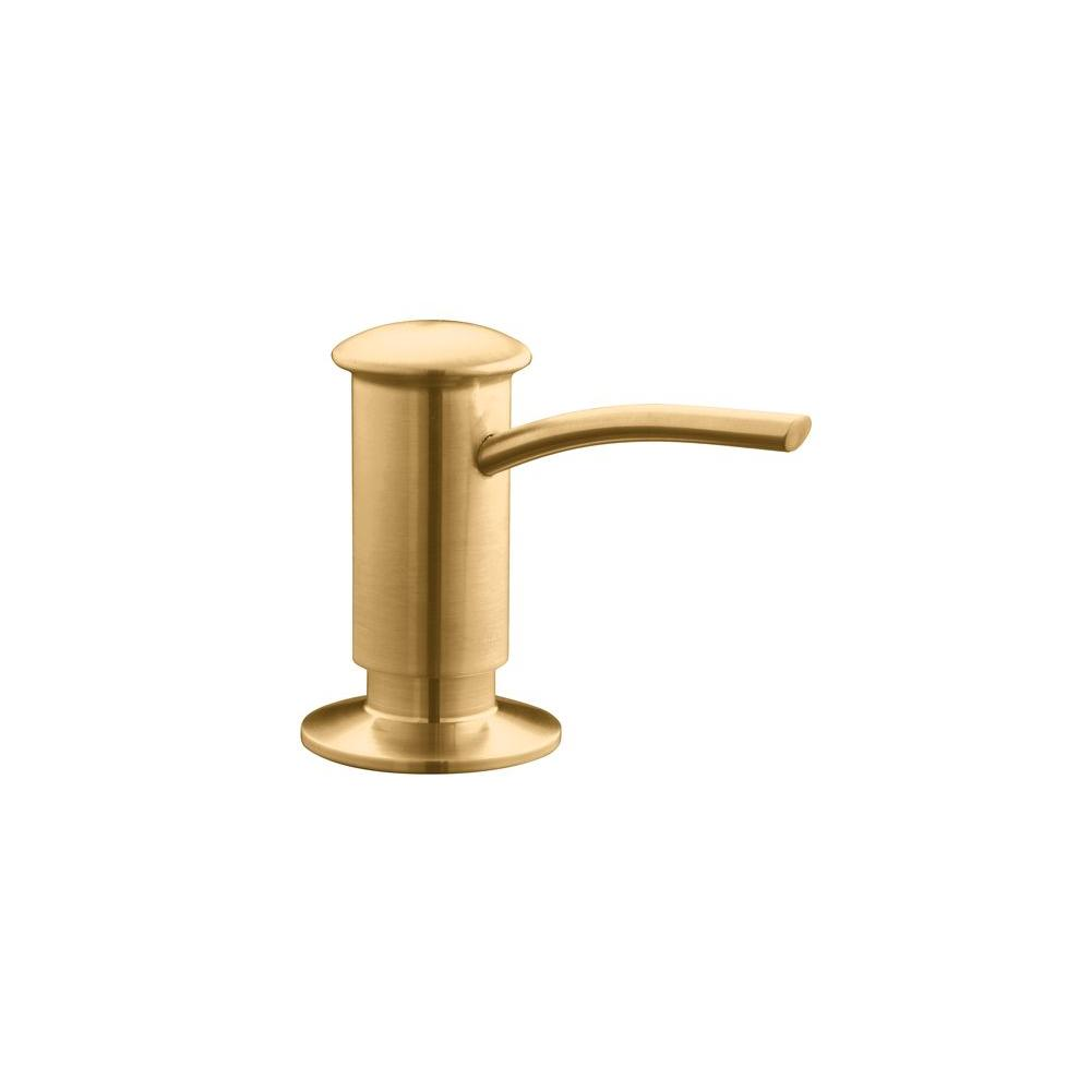 Soap and Lotion Dispenser in Vibrant Brushed Bronze
