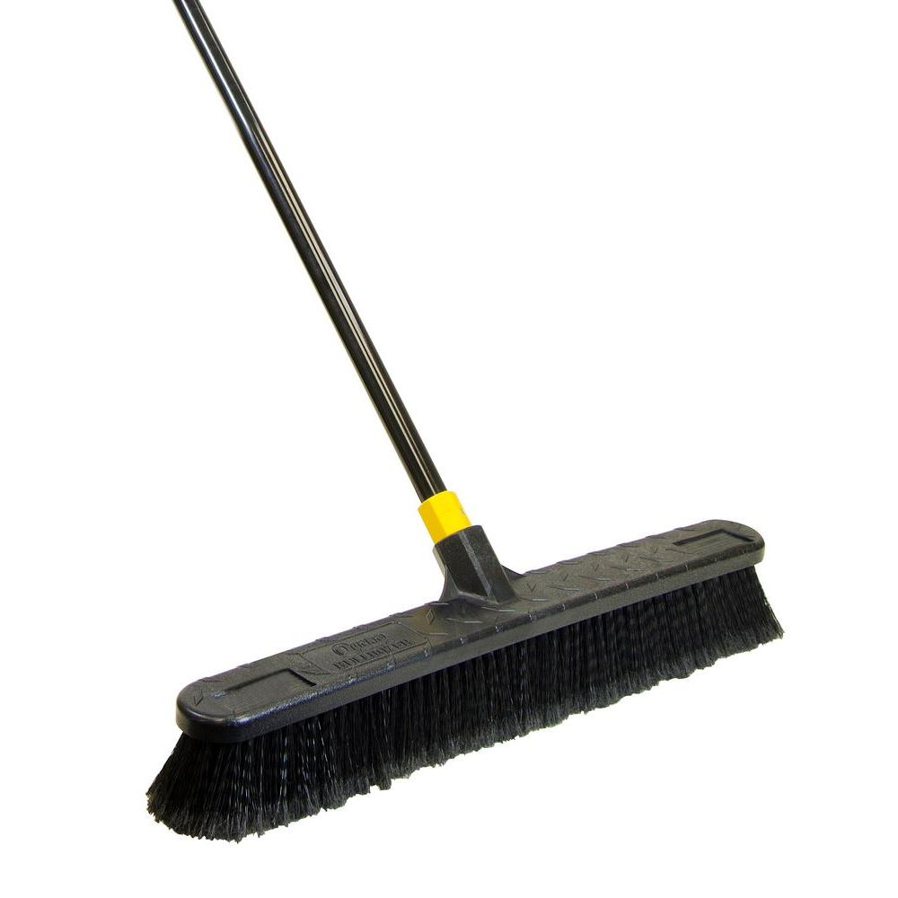 Quickie 24 In Smooth Surface Push Broom 533 The Home Depot