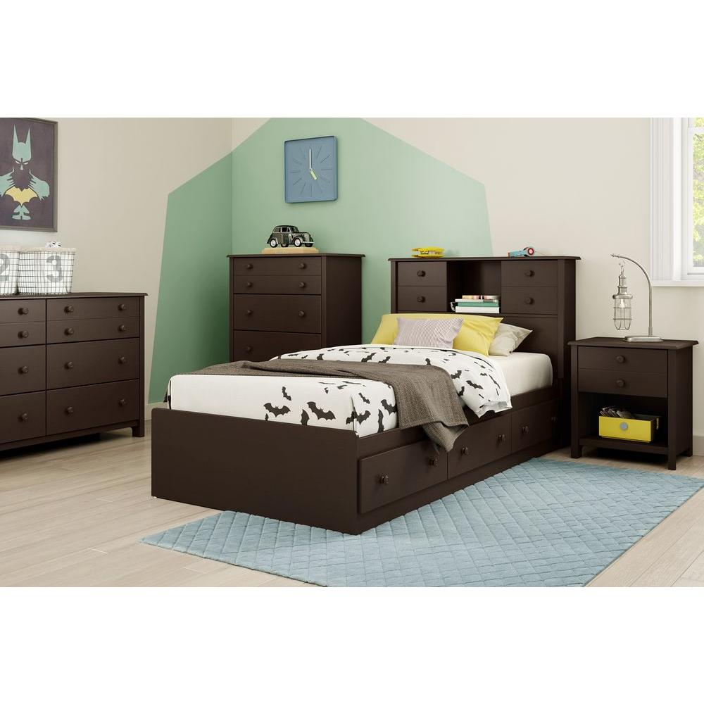 South Shore Little Smileys 1-Drawer Espresso (Brown) Nigh...