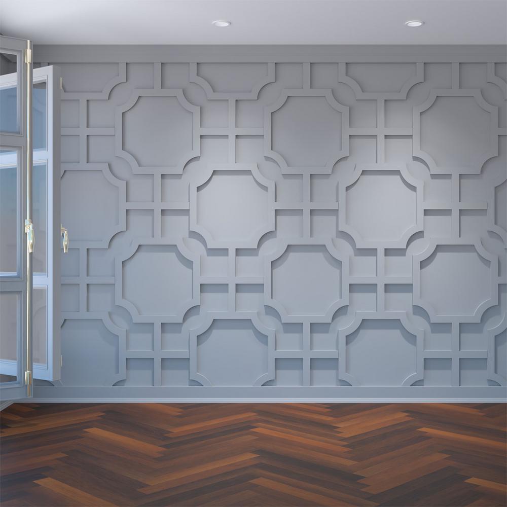 "3/8"" x 40-7/8"" x 23-3/8"" Bradley Decorative Fretwork Wall Panels in Architectural Grade PVC"
