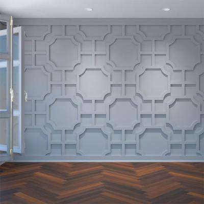 3/8 in. x 42-3/8 in. x 23-3/8 in. Large Bradley White Architectural Grade PVC Decorative Wall Panels