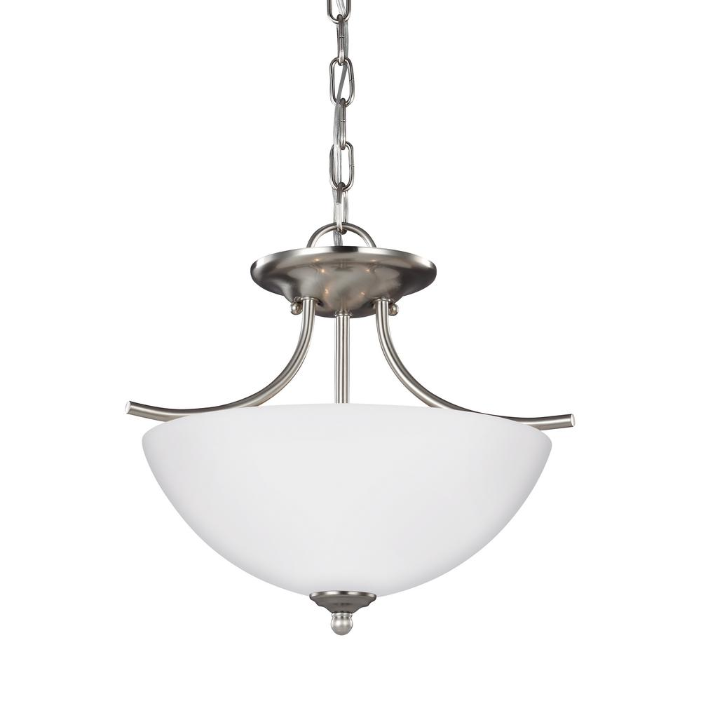 Bannock 2-Light Brushed Nickel Pendant