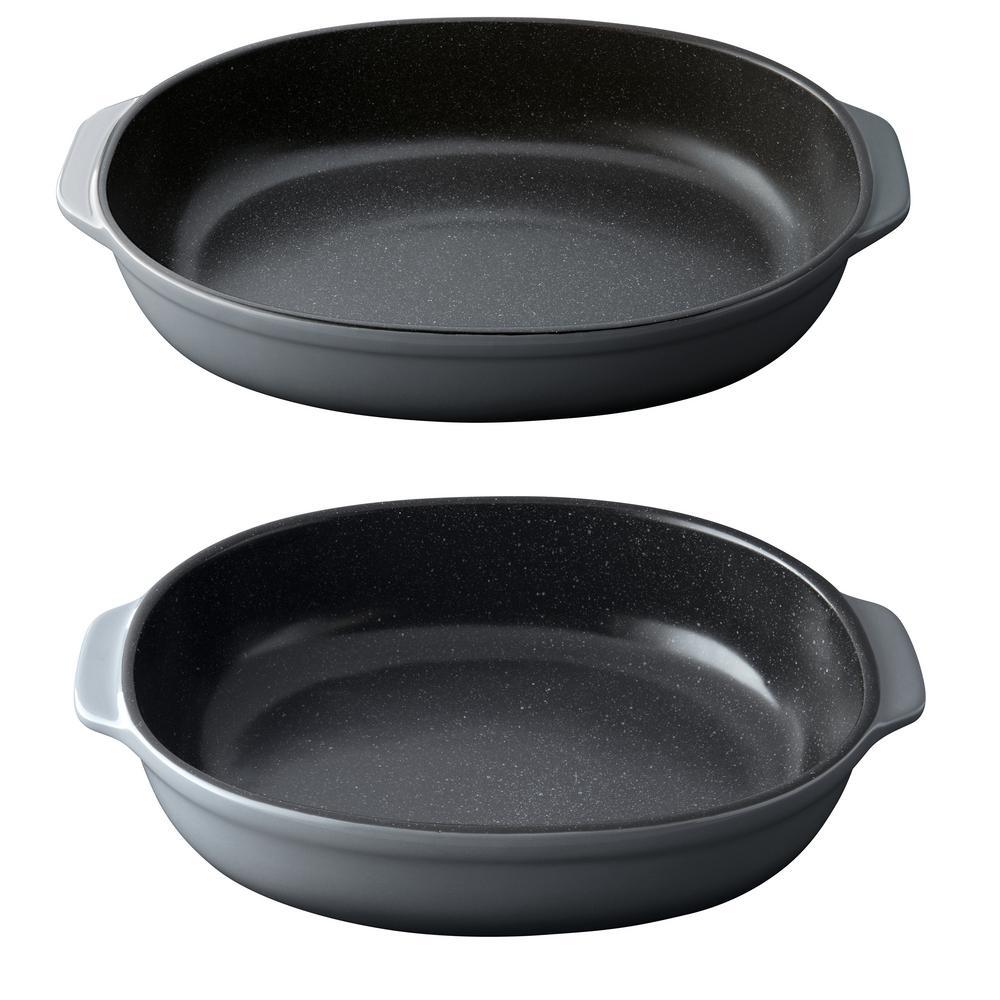 GEM 2-Piece Stoneware Oval Bake Set