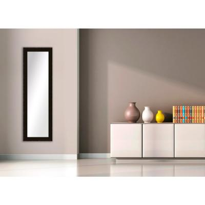 52.5 in. x 16.5 in. Dark Bronze Framed Mirror