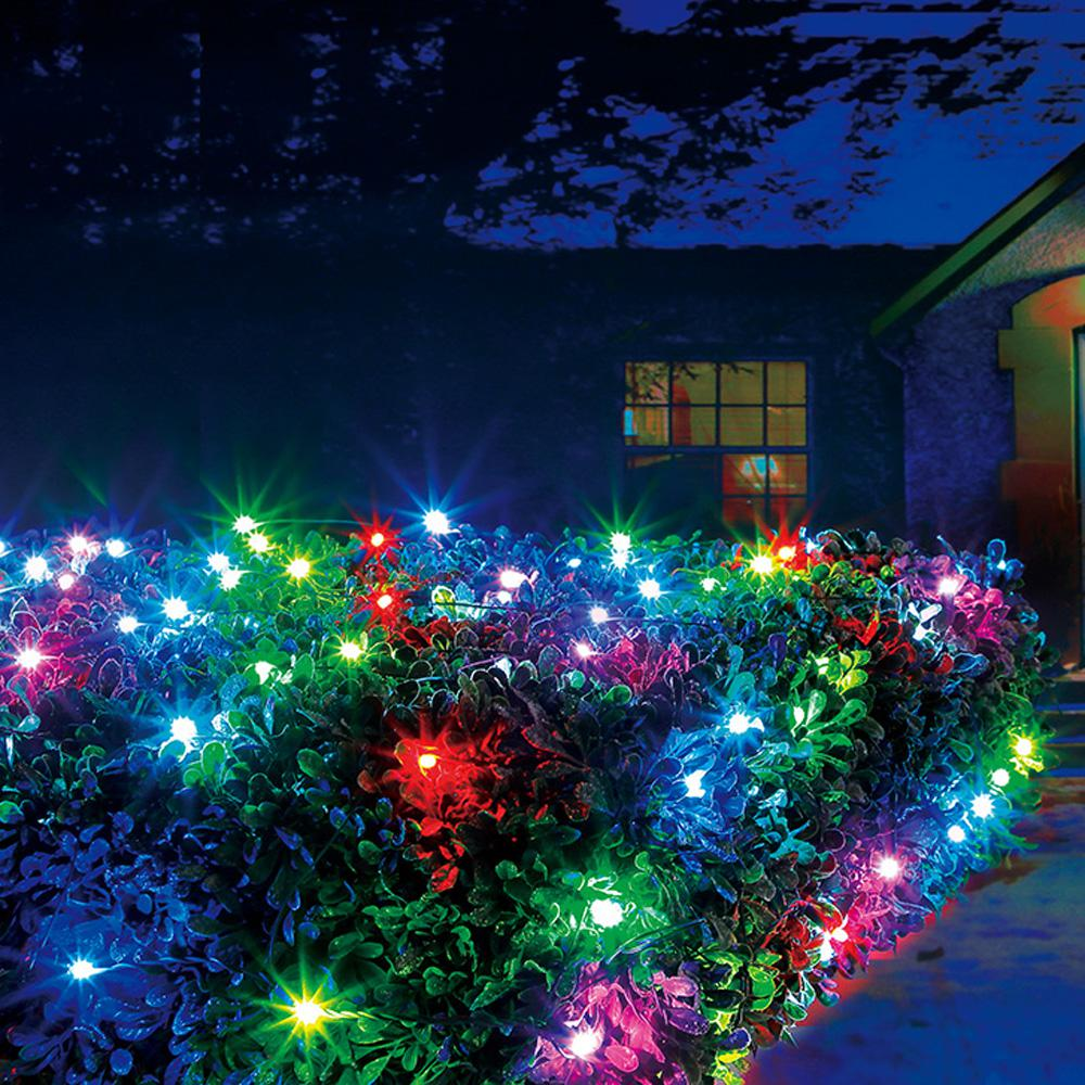 Illuminations 48 In X 48 In 100 Light Rgb Led Color Blast Remote Controlled Net Lights L8100073nu01 The Home Depot