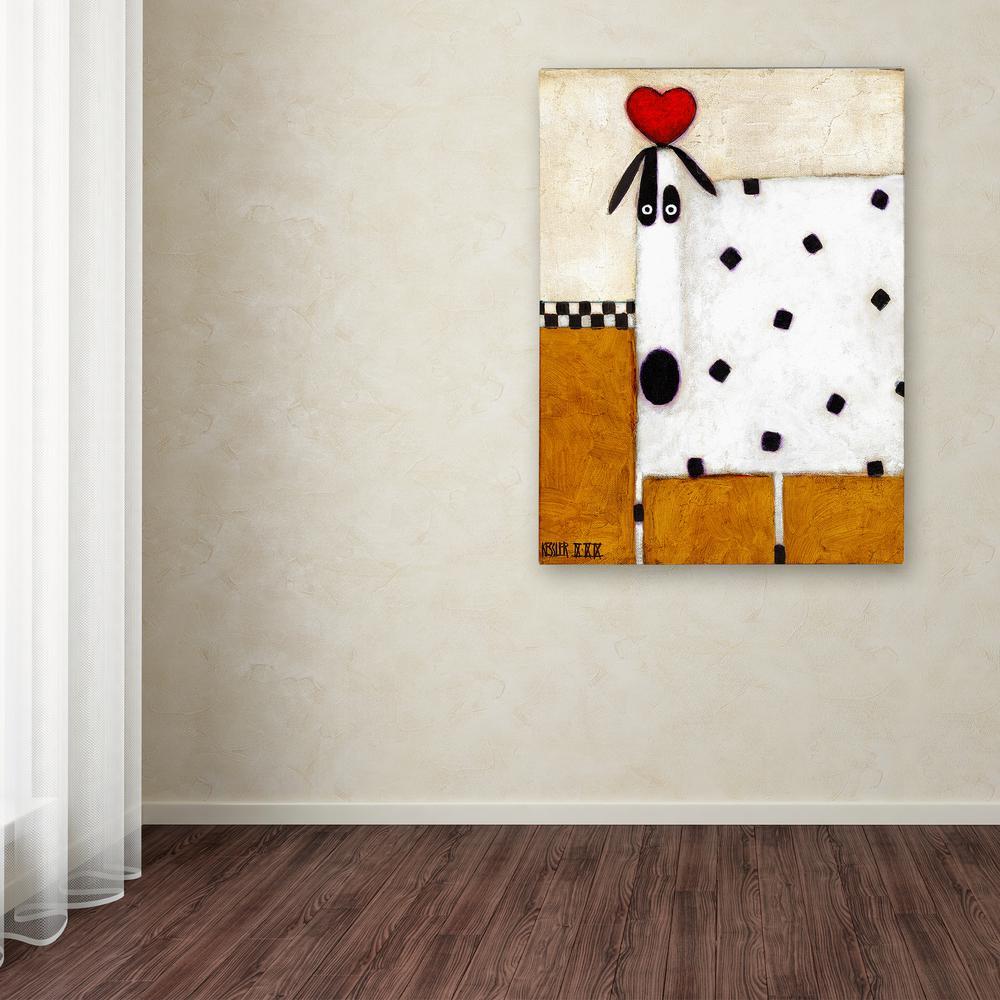 Trademark Fine Art 47 in. x 35 in. ''Love Dog'' by
