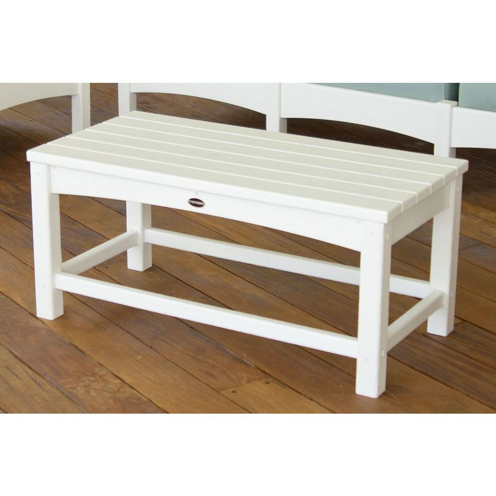 Polywood Club White Patio Coffee Table Clt1836wh The