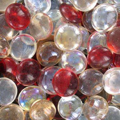 9 lb. Red Mix Glass Gems Box Contains (3) 3 lb. Bags