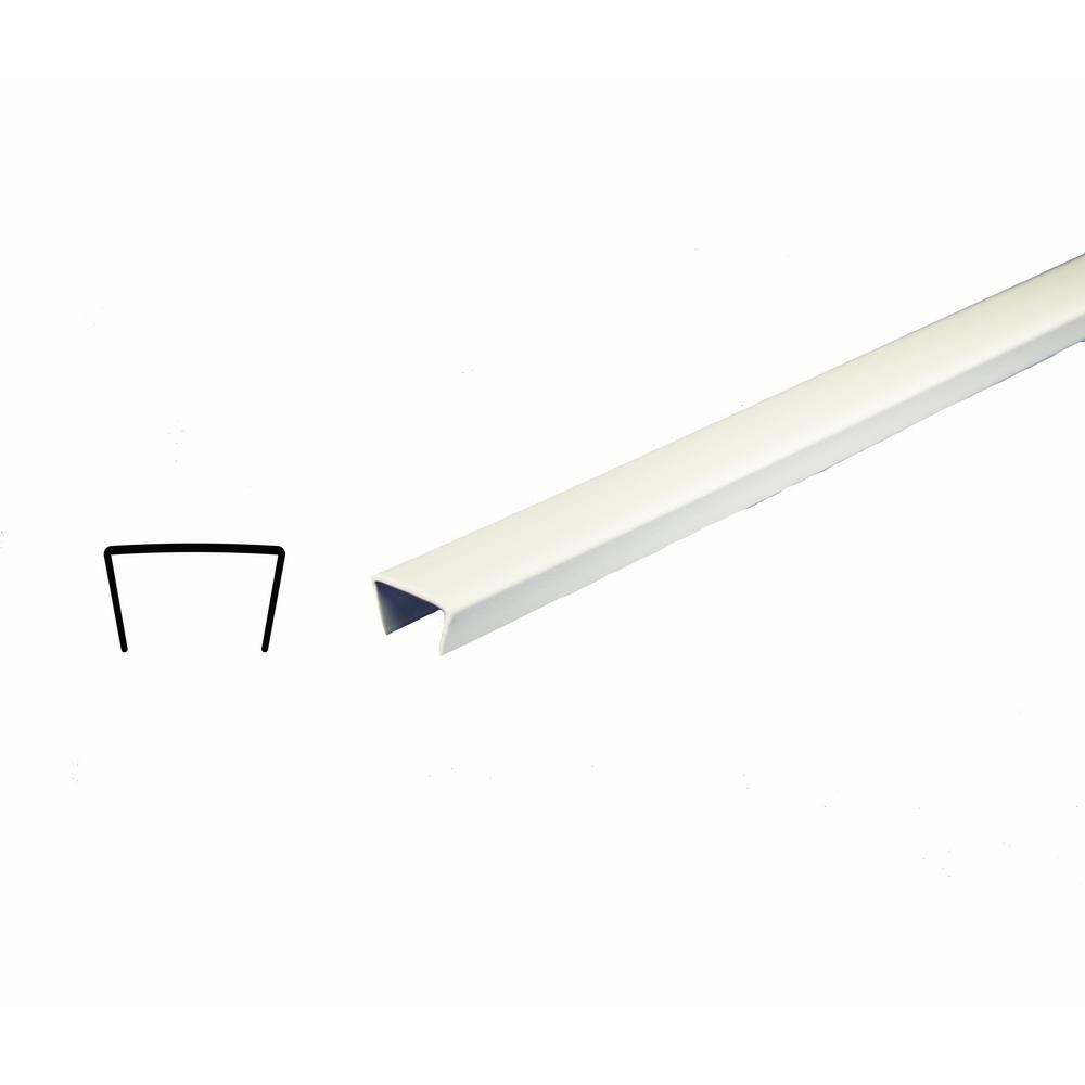 Alexandria Moulding 5/16 in. x 1/2 in. x 96 in. PVC Shelf Edging Moulding