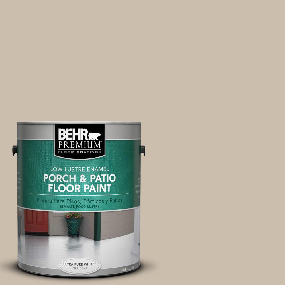 BEHR Premium 1 gal. Home Decorators Collection #HDC-AC-10 Bungalow Beige Low-Lustre Interior/Exterior Porch and Patio Floor Paint