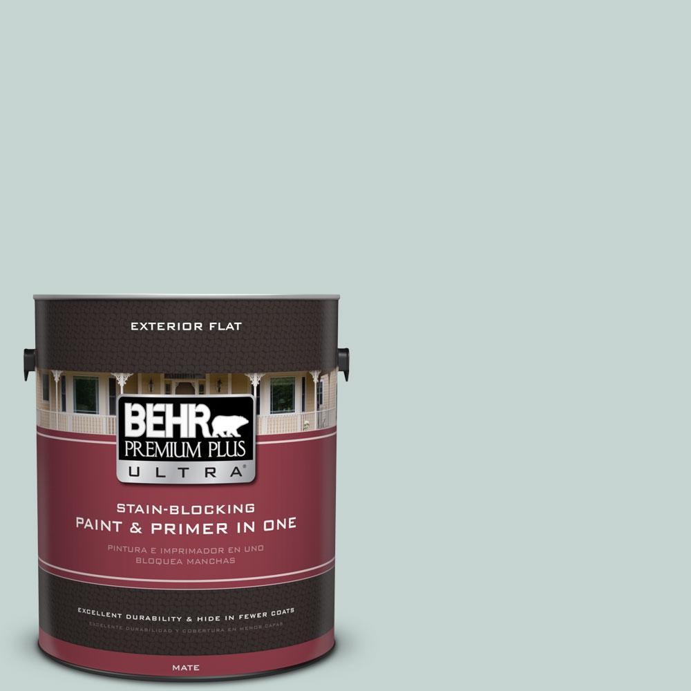 BEHR Premium Plus Ultra 1-gal. #490E-3 Celtic Gray Flat Exterior Paint