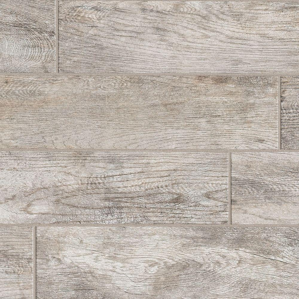 MARAZZI Montagna Dapple Gray 6 in. x 24 in. Porcelain Floor and Wall ...