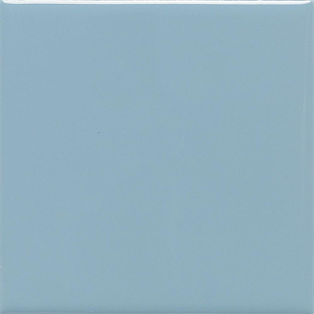 Semi-Gloss Waterfall 4-1/4 in. x 4-1/4 in. Ceramic Wall Tile (12.5
