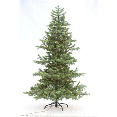 7.5 ft. Indoor Pre-Lit LED Artificial Power Pole Christmas Tree with Warm White Lights