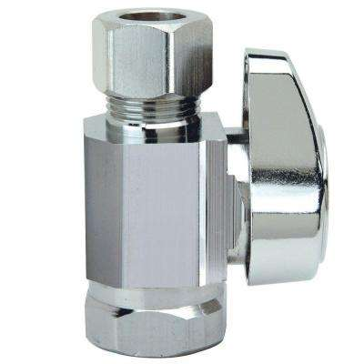 3/8 in. FIP Inlet x 3/8 in. O.D. Compression Outlet 1/4-Turn Straight Valve
