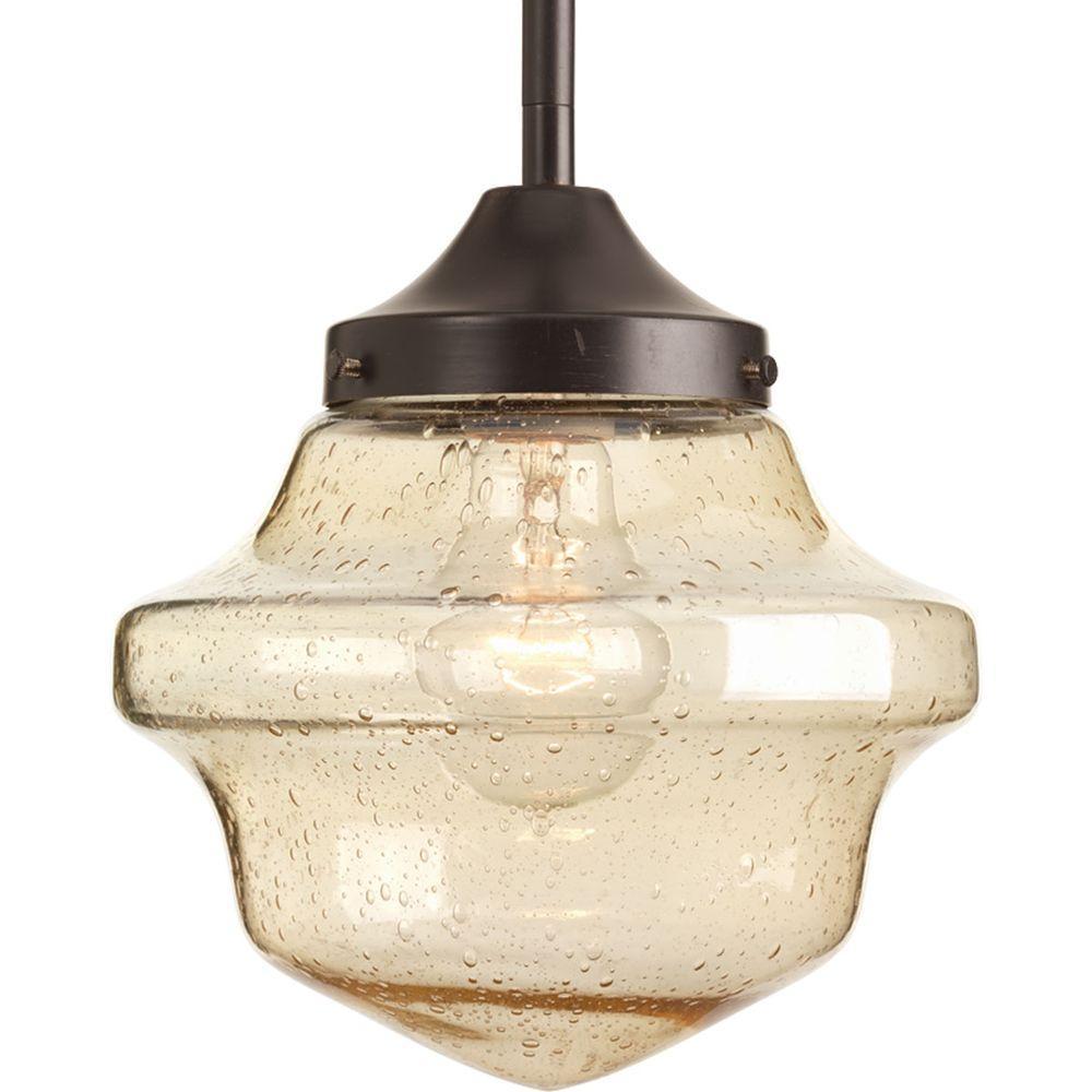 progress lighting schoolhouse collection 1 light antique bronze