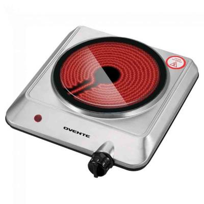Electric Infrared Burner Single-Plate (1000-Watt) Silver Ceramic Glass Cooktop (BGI201S)