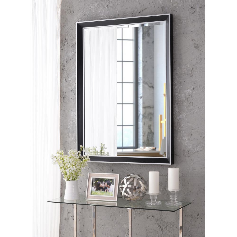 Beau Square Black Dresser Wall Mirror