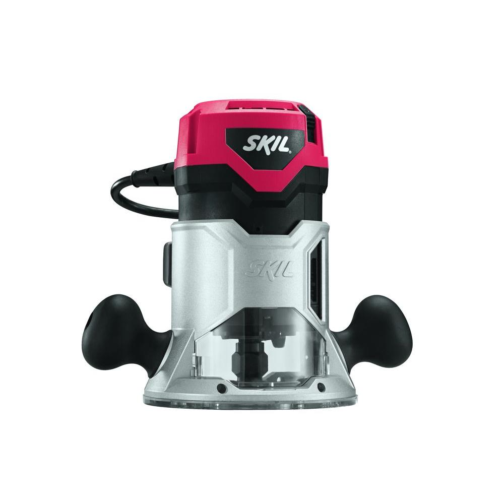 skil plunge router. skil factory reconditioned corded electric 1-3/4 horse power fixed base router plunge