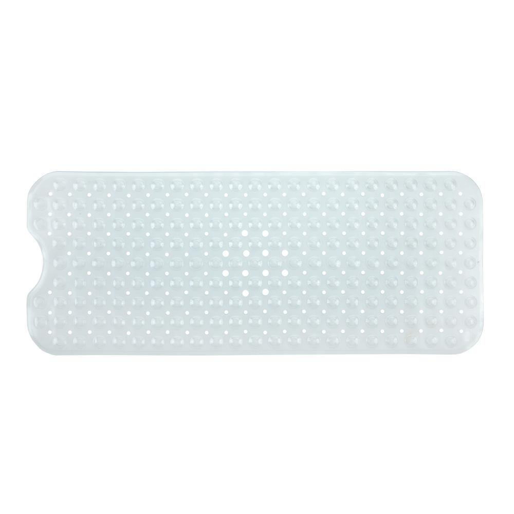 16 in. x 39 in. Extra Long Bath Mat in Clear