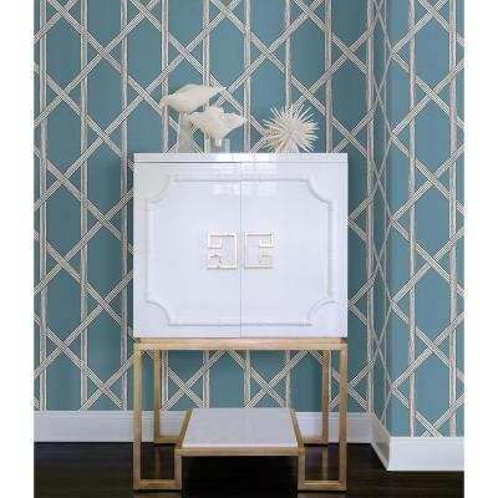 Mandara Blue Trellis Wallpaper