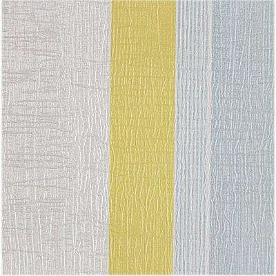 Yellow and Baby Blue Metallic Stripes Self-Adhesive Wallpaper Sample